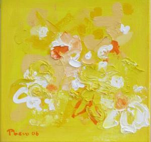 Blütenvariationen,1, 2006, Öl auf Leinwand, 35x35cm