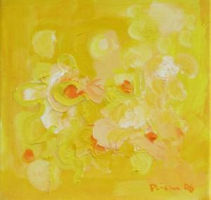 Blütenvariationen,2, 2006, Öl auf Leinwand, 35x35cm