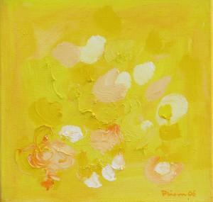 Blütenvariationen,3, 2006, Öl auf Leinwand, 35x35cm