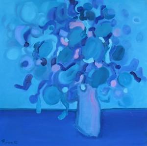 Blau-rosa, B14, 2003, Öl auf Leinwand, 95x95cm