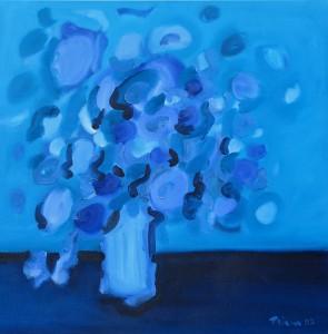 Blau-rosa, B16, 2003, Öl auf Leinwand, 95x95cm