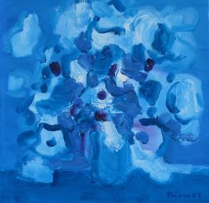 Blaue Variation, 36, 2007, Öl auf Leinwand, 50x50cm