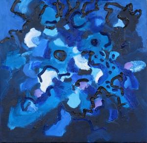 Blaue Variation, 39, 2006, Öl auf Leinwand, 50x50cm