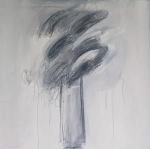 GB, 1, 2006, Graphit, Öl auf Leinwand, 80x80cm