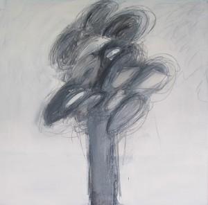GB, 2, 2006, Graphit, Öl auf Leinwand, 80x80cm