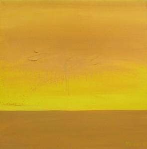 Horizont, H14, 1998, Öl auf Leinwand, 95x95cm