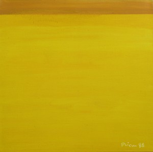 Horizont, H15, 1998, Öl auf Leinwand, 95x95cm