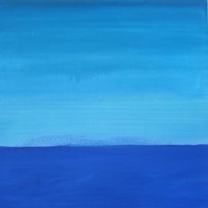 Horizont, H19, 2001, Öl auf Leinwand, 95x95cm