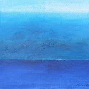 Horizont, H21, 1997, Öl auf Leinwand, 95x95cm