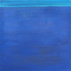 Horizont, H33, 1998, Öl auf Leinwand, 70x70cm