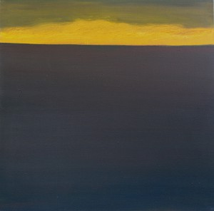 Horizont, H9, 2004, Öl auf Leinwand, 95x95cm