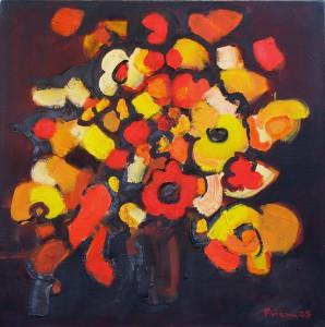 Rot,Braun,Gelb, B13, 2005, Öl auf Leinwand, 95x95cm