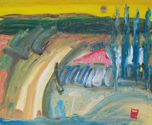 Sempre in movimento,100 x 120 cm, Öl auf Leinwand, 2004