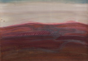Toscanalandschaft 1989, Öl auf Bütten 38x53cm