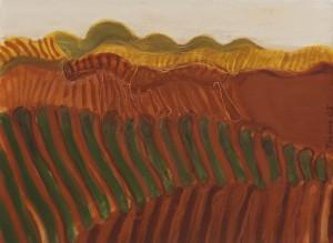 Toscanalandschaft1985, Öl auf Bütten 38x53cm