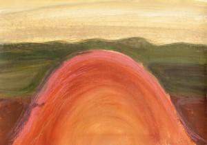 Toscanalandschaft,1989, Öl auf Bütten 38x53cm