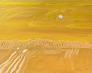 Toskana, T12, 1989, Öl auf Leinwand, 100x80cm