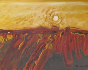 Toskana, T13, 1989, Öl auf Leinwand, 100x80cm