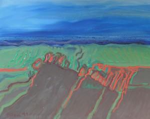 Toskana, T14, 1991, Öl auf Leinwand, 100x80cm