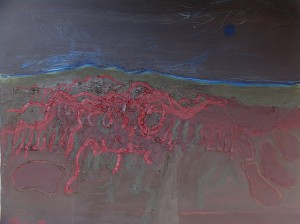 Toskana, T15, 1991, Öl auf Leinwand, 100x80cm