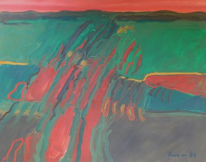 Toskana, T16, 1989, Öl auf Leinwand, 100x80cm