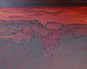 Toskana, T17, 1990, Öl auf Leinwand, 100x80cm