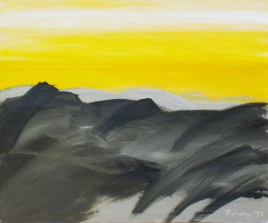 Toskana, T7, 1992, Öl auf Leinwand, 120x100cm