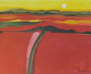 Toskana,T2, 1993, Öl auf Leinwand, 120x100cm