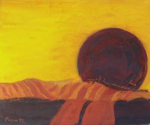 Toskana,T3, 1992, Öl auf Leinwand, 120x100cm