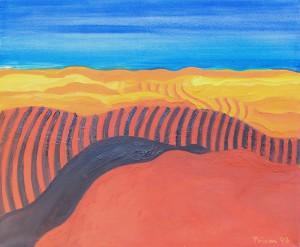 Toskana,T8, 1993, Öl auf Leinwand, 120x100cm