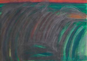 Toscanalandschaft 1988_1, Öl auf Bütten, 53x75 cm