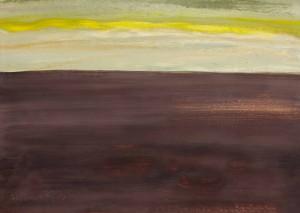 Toscanalandschaft, 1993, Öl auf Bütten 53x75 cm