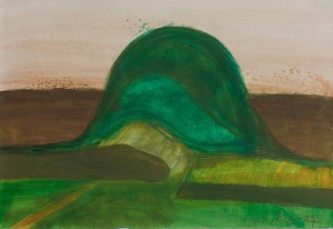 Toscanalandschaft,1987, Öl auf Bütten,  53x75 cm